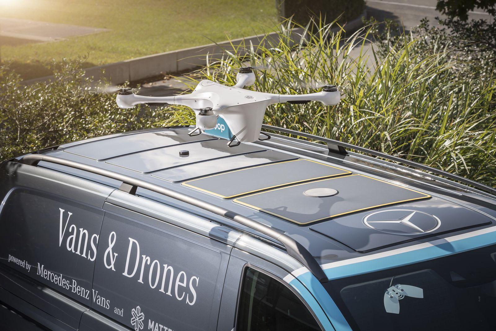 Mercedes-Benz Vans, Matternet und siroop starten Pilotprojekt zur On-Demand-Lieferung von e-Commerce-Produkten in Zürich.