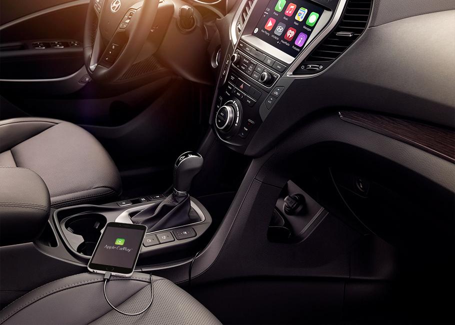 Hyundai trang bị thêm tính năng Apple Car Play trên SantaFe 2018