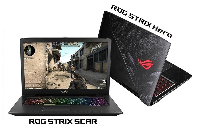 Bộ đôi laptop gaming ROG Strix Hero và SCAR