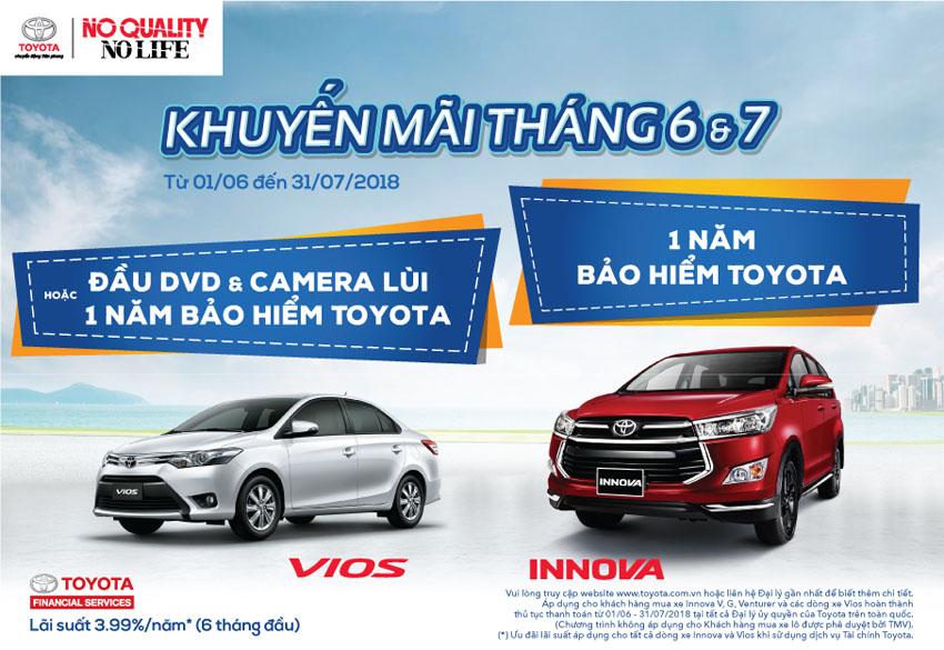 Toyota giới thiệu chương trình khuyến mãi dành cho xe Vios và Innova