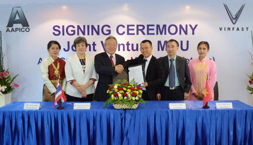 Vinfast bắt tay với công ty AAPICO Hitech (Thái Lan) sản xuất thân vỏ xe