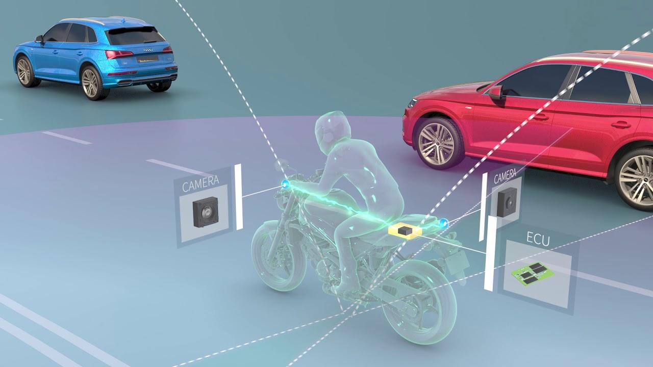 Công nghệ tránh va chạm 360 độ cho môtô