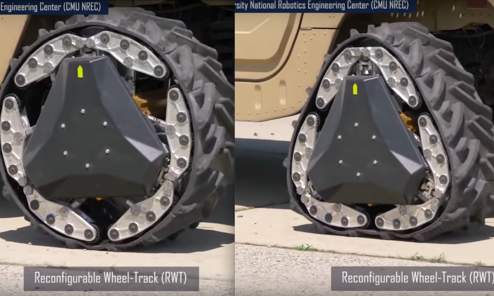 """Công nghệ lốp """"biến hình"""" của Mỹ giúp xe vượt mọi địa hình"""