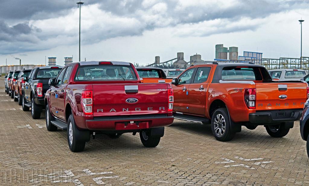 Lô xe Ford Ranger được nhập khẩu trong tháng 6-2018