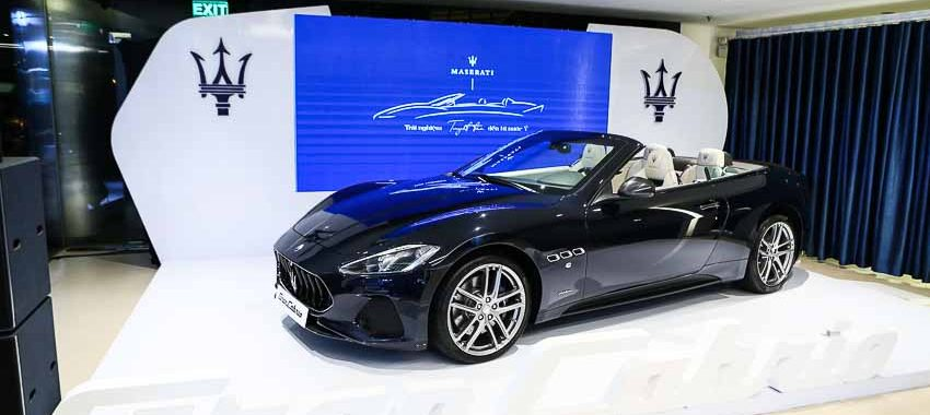 Maserati ra mắt mẫu xe GranCabrio Sport 2018 tại Việt Nam