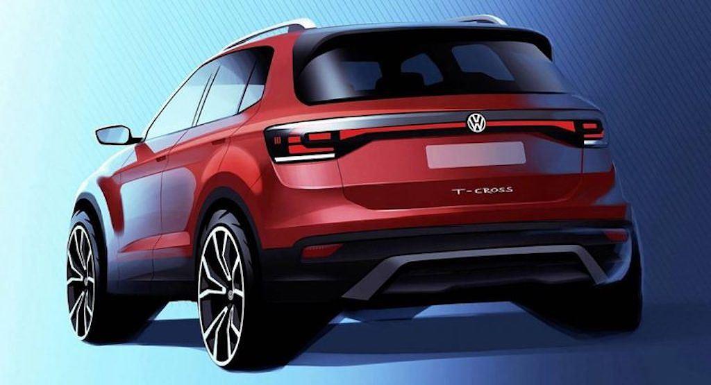Volkswagen T-Cross chính thức được hé lộ, chuẩn bị ra mắt trong năm nay