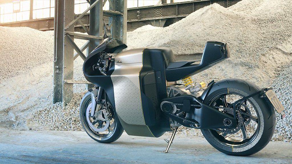 Đẹp mê hồn Superbike chạy điện dát vàng Sarolea MANX7