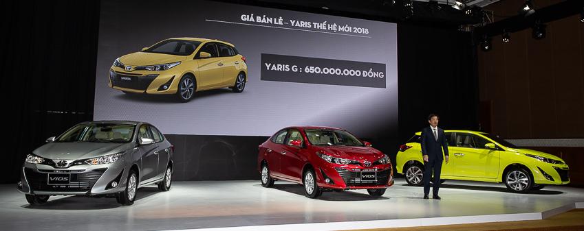 Kỳ vọng doanh số Yaris là 300 xe/tháng.