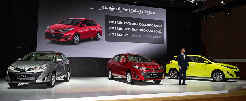 Toyota Việt Nam kỳ vọng bán 2.400 xe Vios 2018 mỗi tháng.