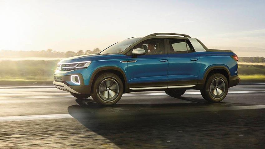 Volkswagen Tarok Concept chạy trên đường