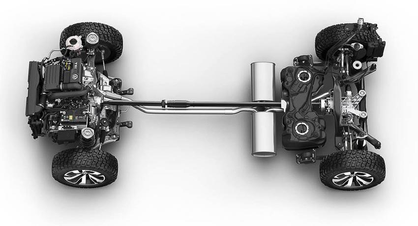 Động cơ xe Volkswagen Tarok Concept 2