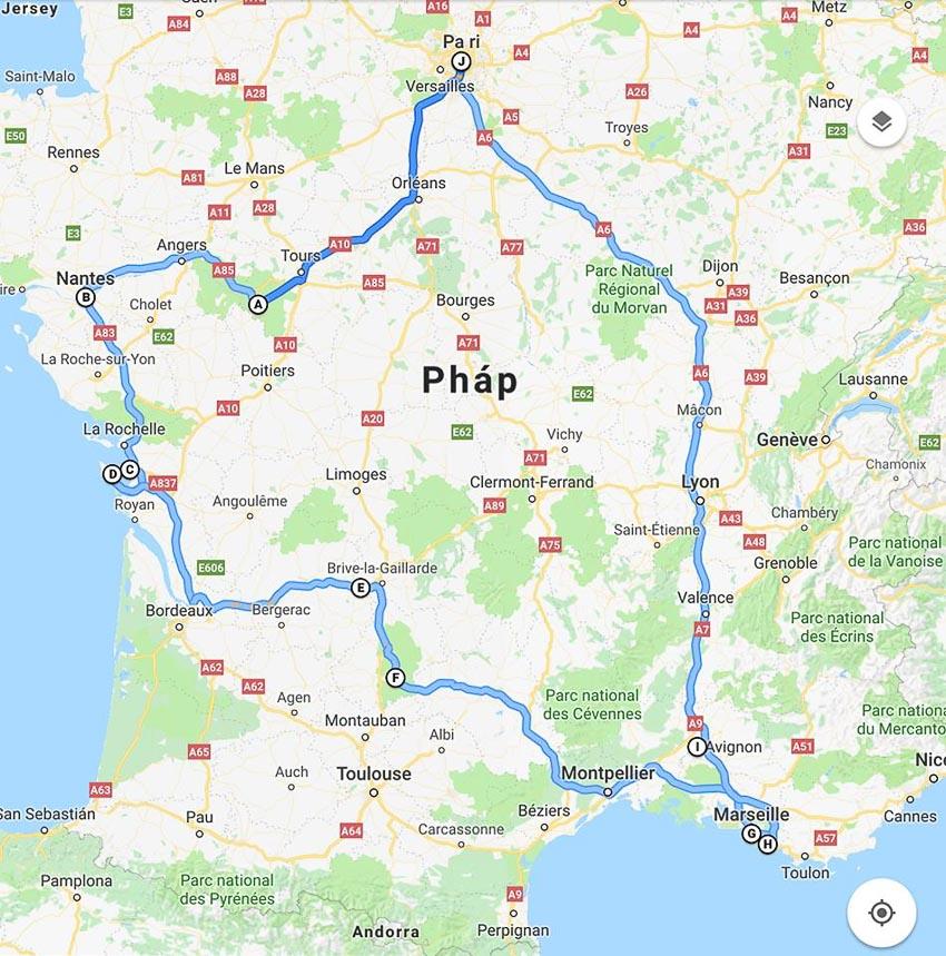 Bản đồ du lịch châu Âu