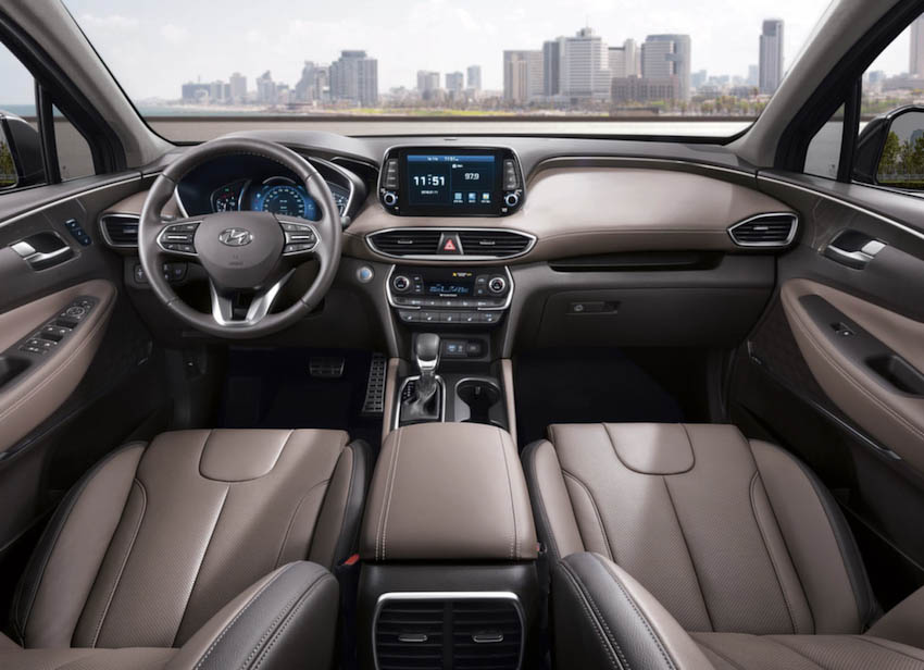 Nội thất Hyundai SantaFe 2019 2