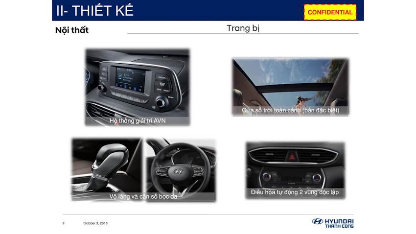 Thông số kỹ thuật Hyundai SantaFe 2019 2