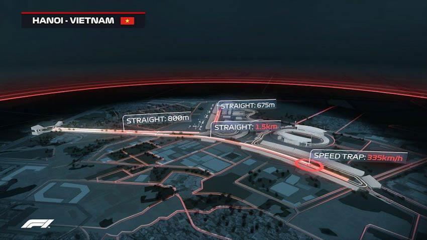 Hình ảnh mô phỏng đường đua F1 ở Mỹ Đình - Hà Nội, Việt Nam 2