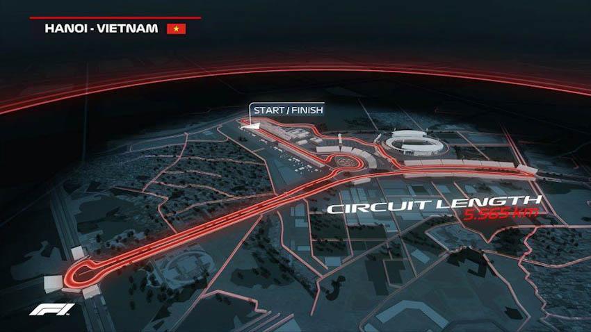Hình ảnh mô phỏng đường đua F1 ở Mỹ Đình - Hà Nội, Việt Nam 3