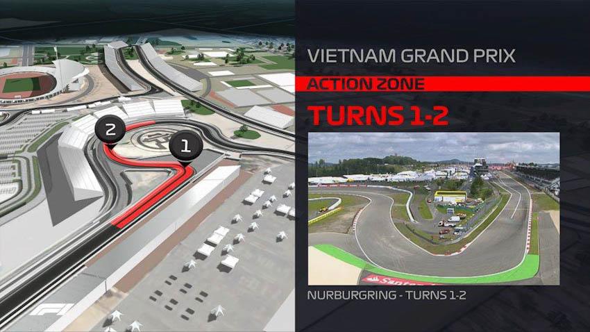 Hình ảnh mô phỏng đường đua F1 ở Mỹ Đình - Hà Nội, Việt Nam 5