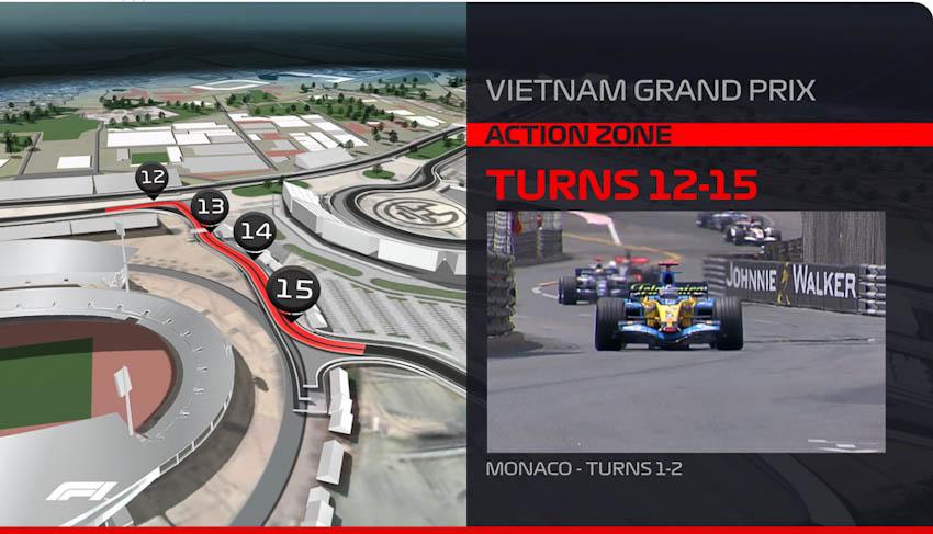 Hình ảnh mô phỏng đường đua F1 ở Mỹ Đình - Hà Nội, Việt Nam 6