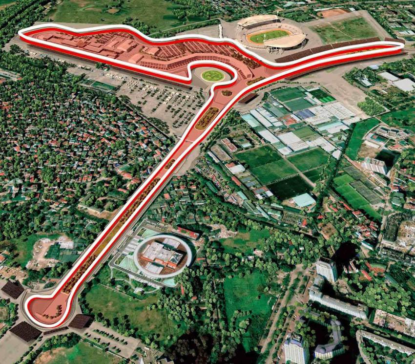 Hình ảnh mô phỏng đường đua F1 ở Mỹ Đình - Hà Nội, Việt Nam 7