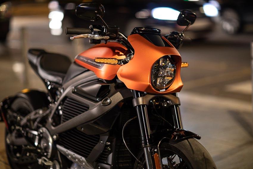 Đầu xe mô tô điện Harley-Davidson LiveWire