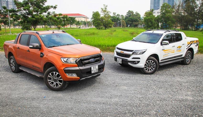 Xe bán tải Ford và xe bán tải Chevrolet