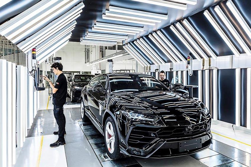 nhà máy sản xuất siêu SUV Lamborghini URUS 10