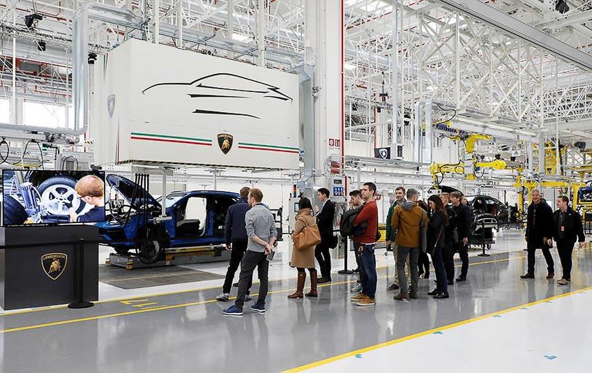nhà máy sản xuất siêu SUV Lamborghini URUS 2