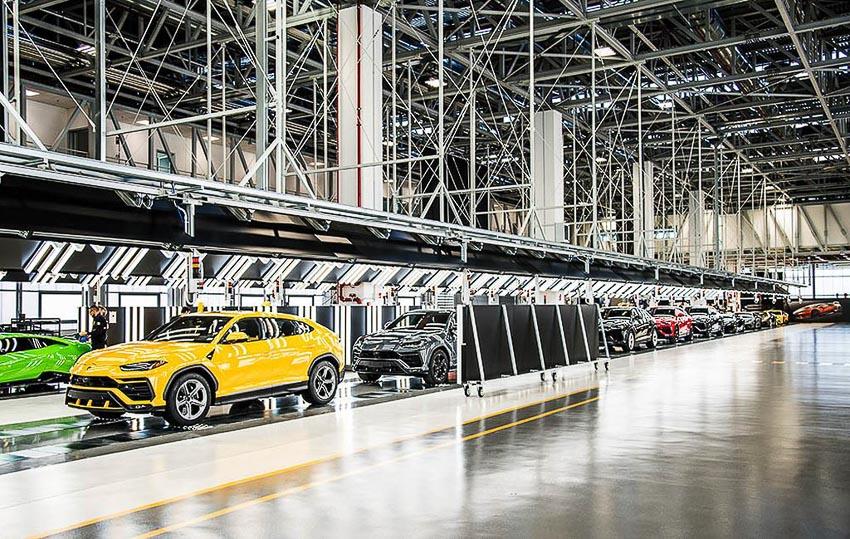 nhà máy sản xuất siêu SUV Lamborghini URUS 7