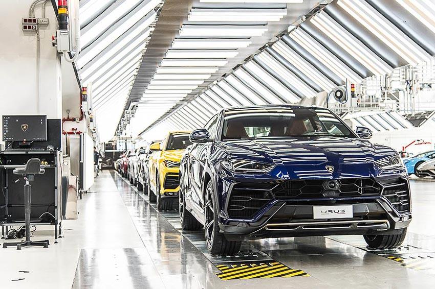 nhà máy sản xuất siêu SUV Lamborghini URUS 8
