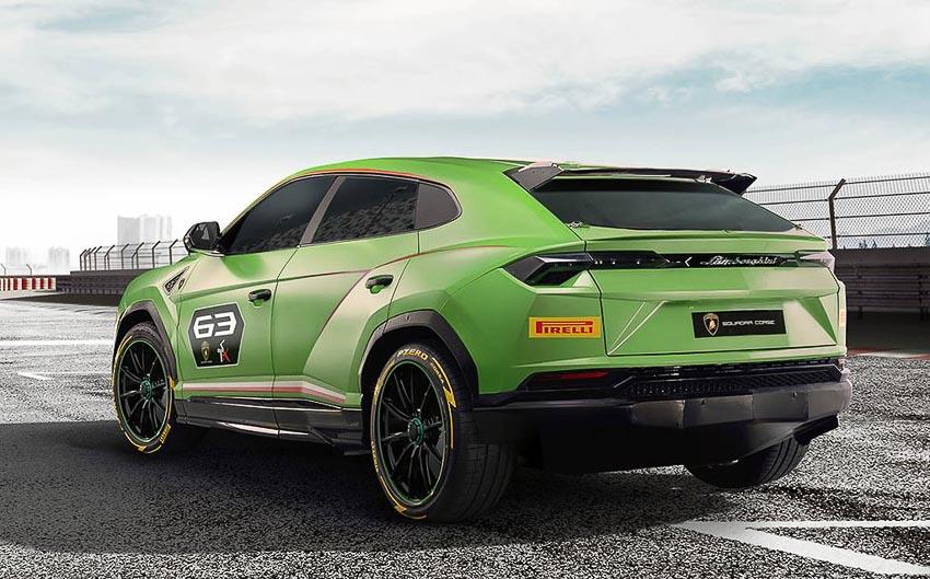 Đuôi xe Lamborghini Urus ST-X Concept