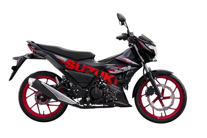 Suzuki Raider R150 màu Đen-đỏ