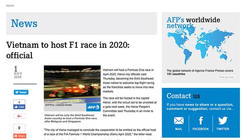 Việt Nam tổ chức một chặng đua F1 vào năm 2020 4