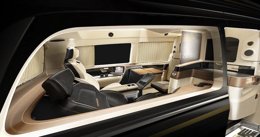 """""""Chuyên cơ mặt đất"""" Italdesign Vulcanus lột xác từ Mercedes-Benz V260L 4"""