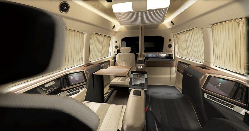 """""""Chuyên cơ mặt đất"""" Italdesign Vulcanus lột xác từ Mercedes-Benz V260L 5"""