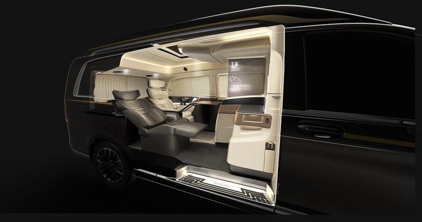 """""""Chuyên cơ mặt đất"""" Italdesign Vulcanus lột xác từ Mercedes-Benz V260L 6"""