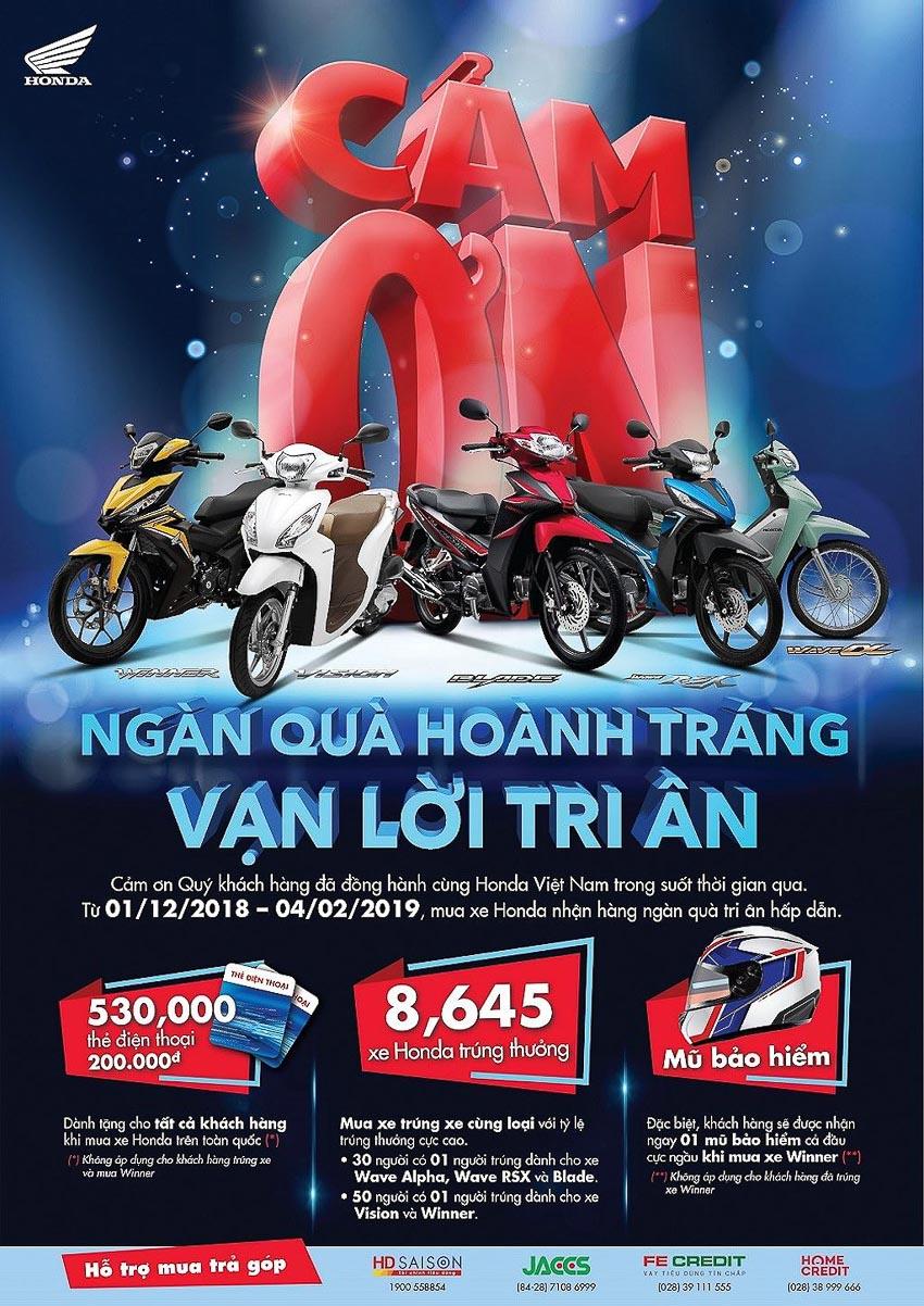 Honda Việt Nam khuyến mại lớn mùa mua sắm cuối năm 2018 1