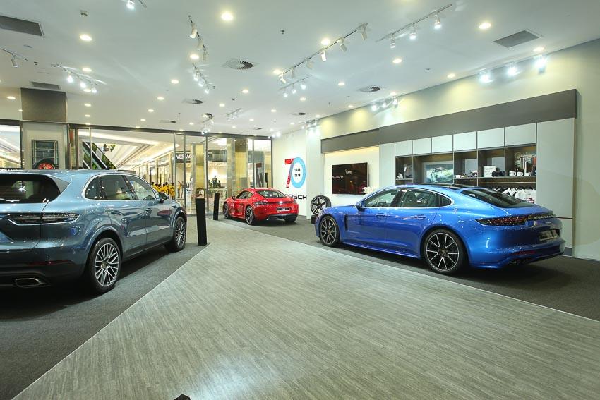không gian trưng bày Porsche