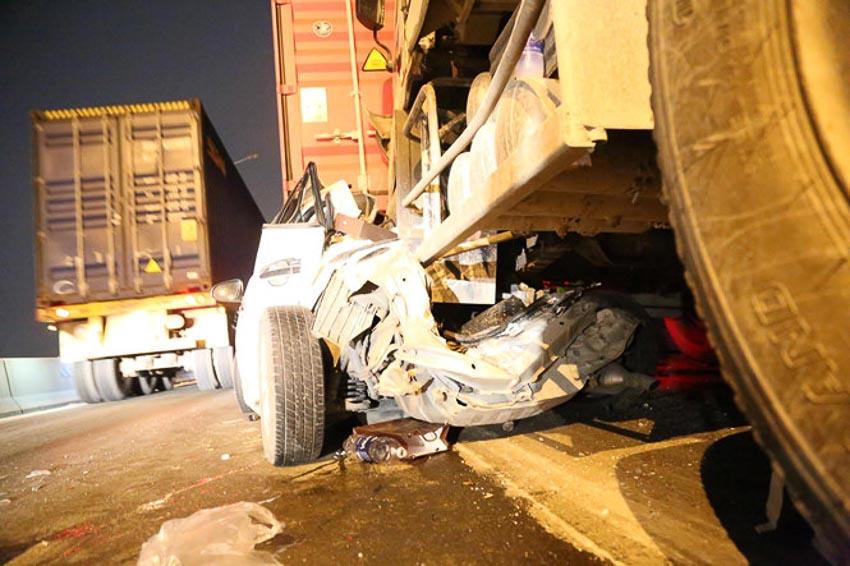 Tai nạn liên hoàn trên cầu Phú Mỹ 1
