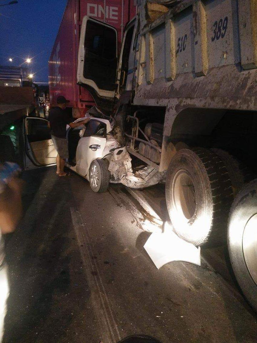 Tai nạn liên hoàn trên cầu Phú Mỹ 2