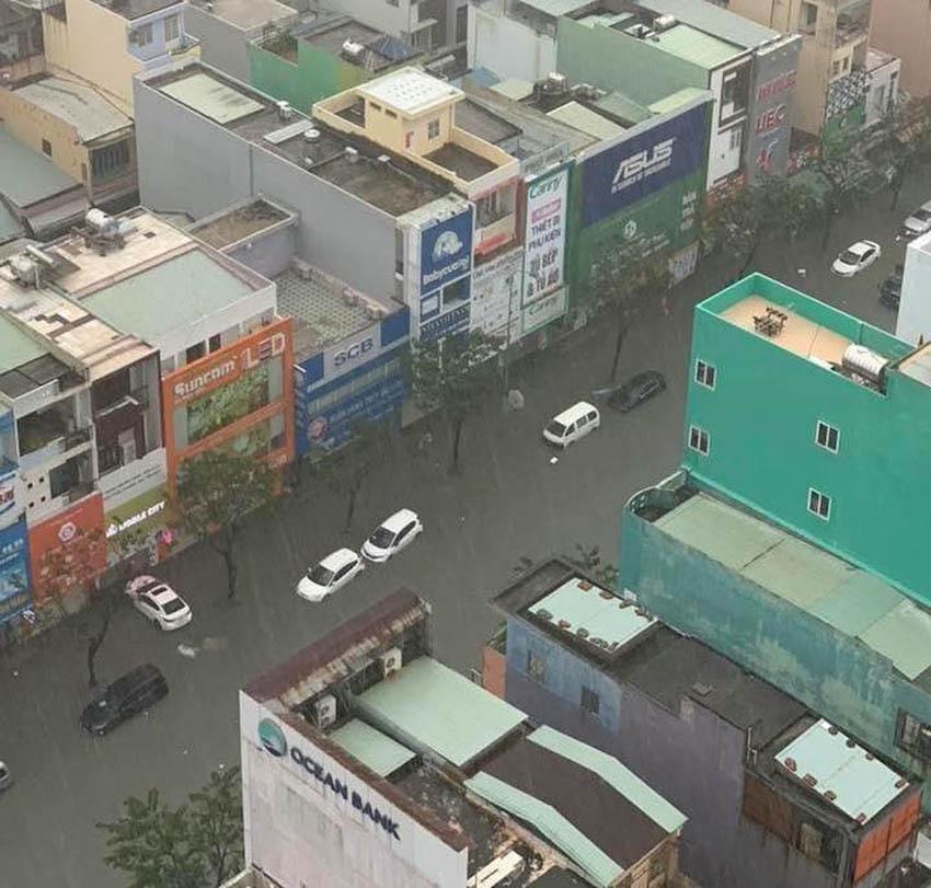 Loạt xe sang chết đuối trong biển nước tại Đà Nẵng 6