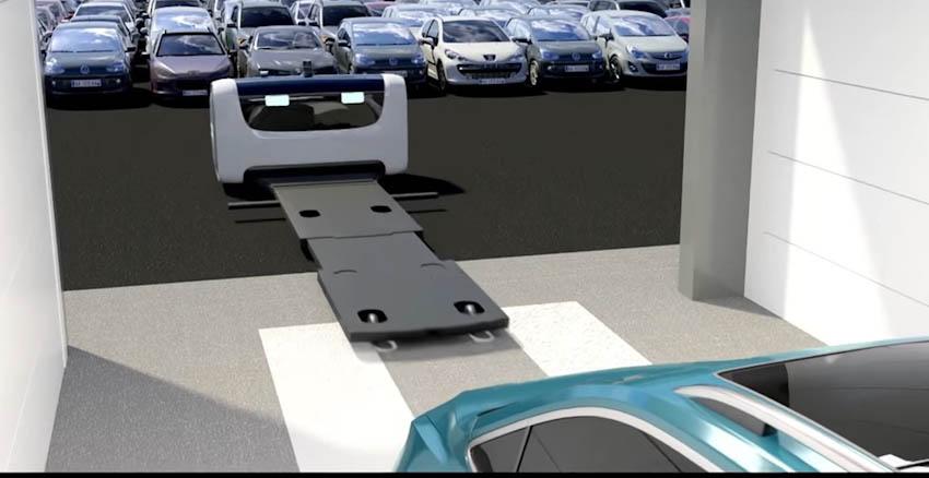 robot đỗ xe tự động
