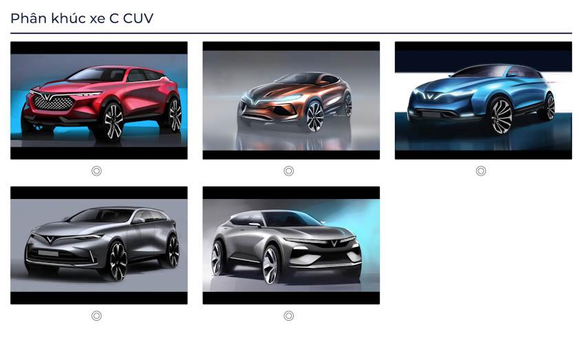 VinFast Premium chính thức công bố với 7 mẫu ôtô 7