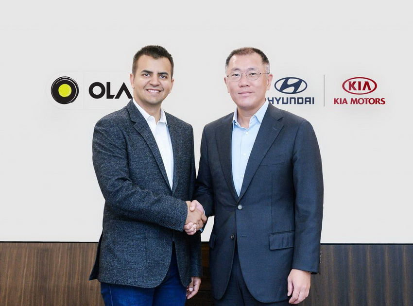 Hyundai và Kia đầu tư vào Ola
