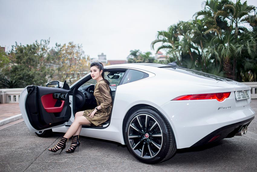 Á hậu Huyền My sở hữu Jaguar F-Type