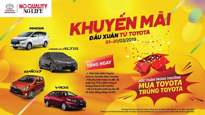 chương trình khuyến mãi dành cho các mẫu xe Toyota