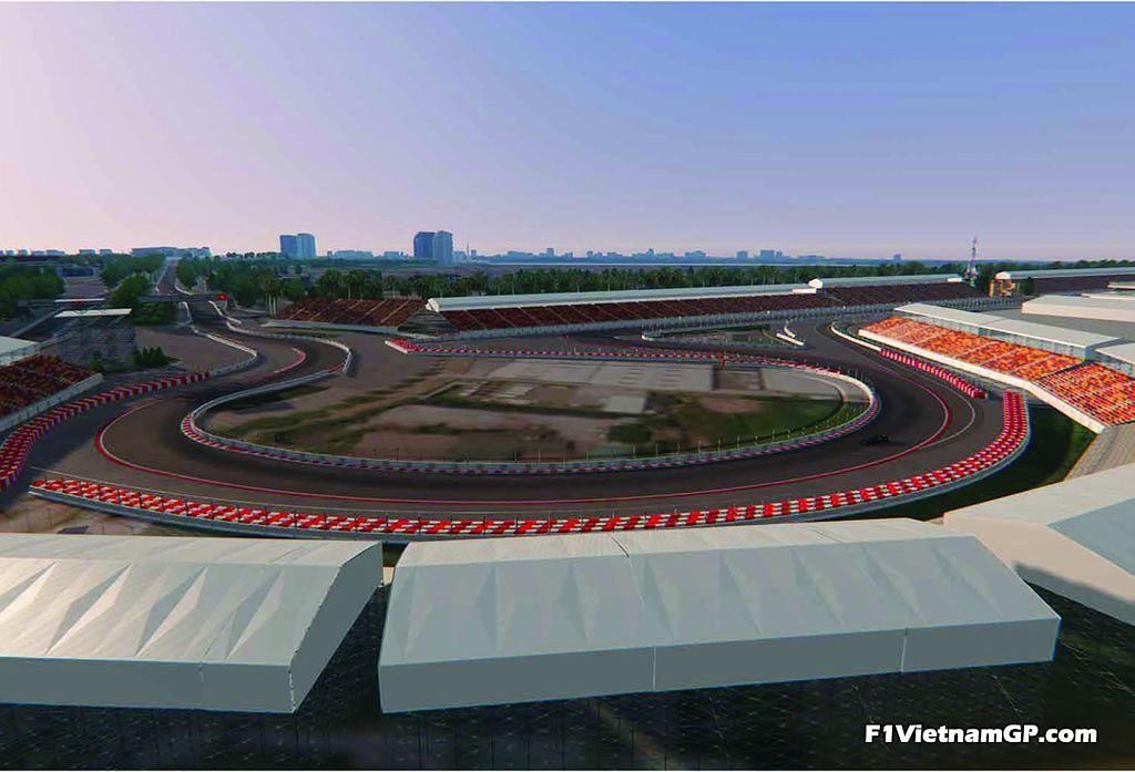 Ngắm phối cảnh 3D trường đua F1 đầu tiên tại Việt Nam - 4