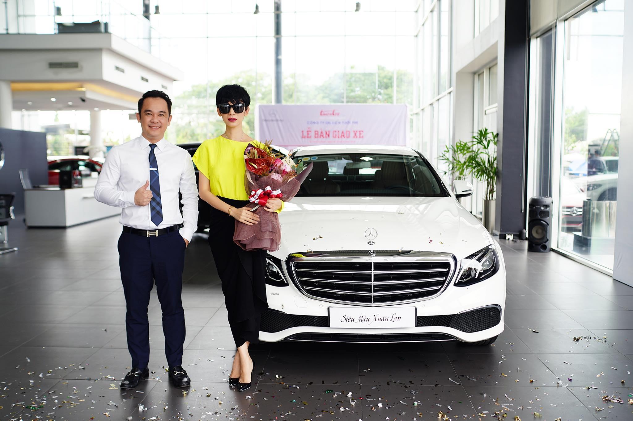 Siêu mẫu Xuân Lan tậu xe Mercedes-Benz E200 hơn 2 tỷ đồng - 08