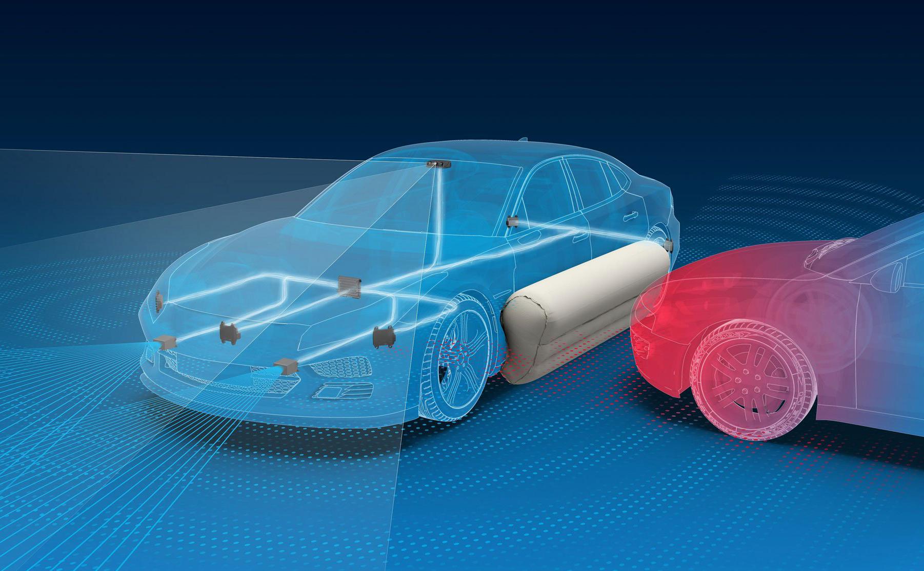 Túi khí bên ngoài xe hơi giúp bảo vệ xe và hành khách khi va chạm 3