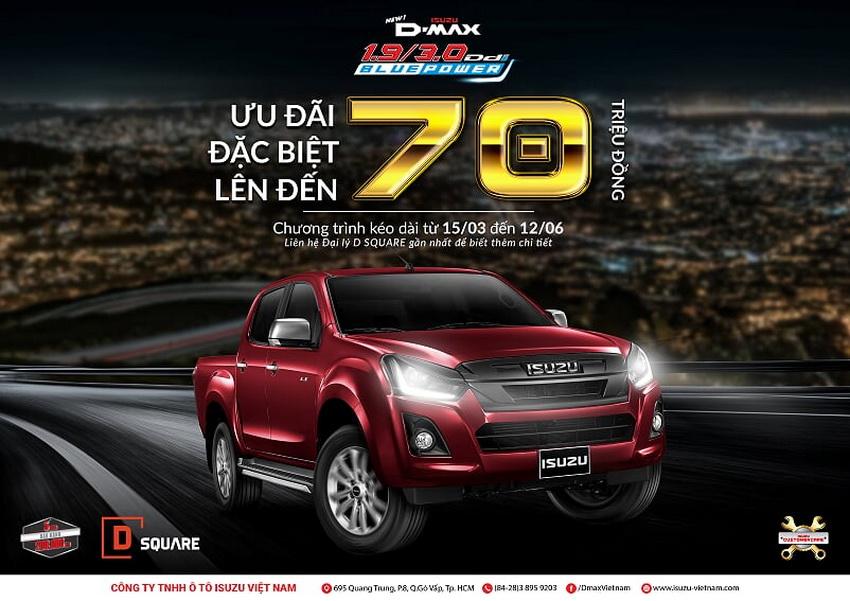 Bảng giá xe Isuzu tháng 6-2019: Isuzu D-Max giảm 70 triệu đồng 3