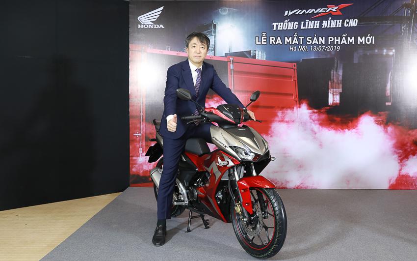 Ông Keisuke Tsuruzono Tổng giám đốc Công ty Honda Việt Nam trong Sự kiện giới thiệu Winner X mới.